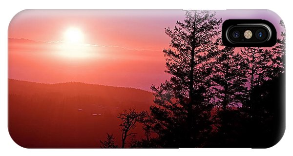 Sunset Off Mt Erie Washington Art Prints IPhone Case