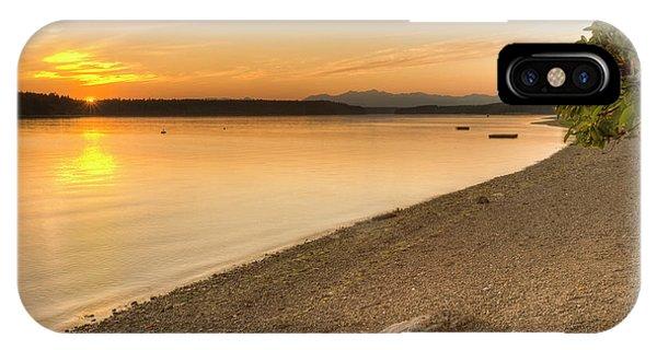 Olympic National Park iPhone Case - Sunset Olympic Peninsula, Washington by Tom Norring