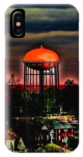 Sunset On A Charlotte Water Tower By Diana Sainz IPhone Case