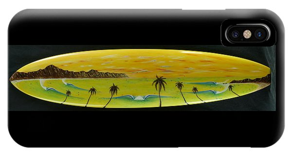 Sunset On A Surfboard IPhone Case