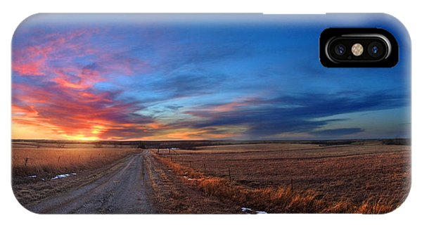 Sunset On Aa Road Phone Case by Rod Seel
