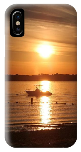 Sunset On Boat IPhone Case