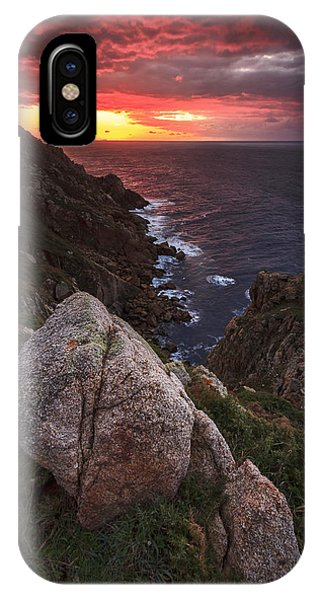 Sunset On Cape Prior Galicia Spain IPhone Case