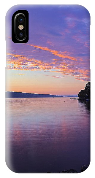 Sunset On Cayuga Lake Cornell Sailing Center Ithaca New York IIi IPhone Case