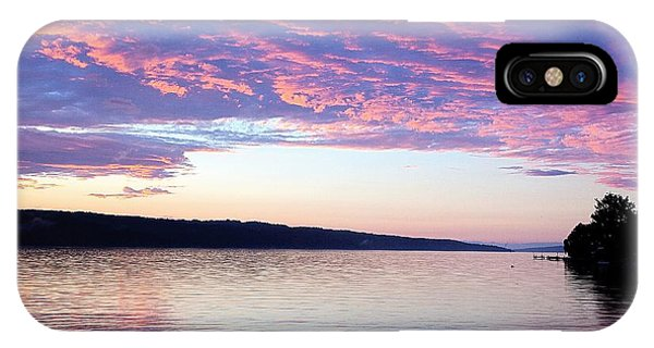Sunset On Cayuga Lake Cornell Sailing Center Ithaca New York IPhone Case