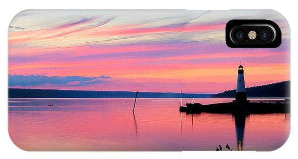 Sunset On Cayuga Lake Ithaca New York IPhone Case