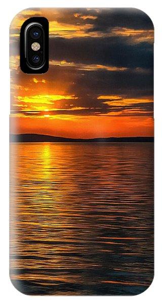 Sunset On Degray Lake IPhone Case