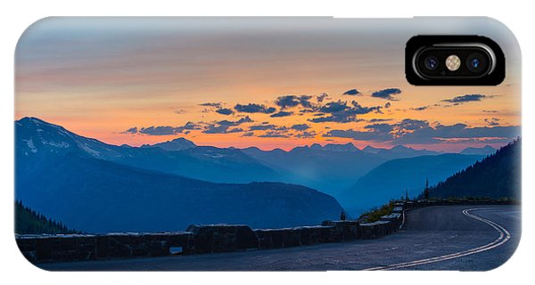 IPhone Case featuring the photograph Sunset On Going-to-the-sun Road by Adam Mateo Fierro