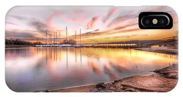 Sunset On Lake Hartwell IPhone Case
