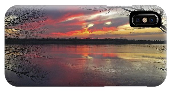 Sunset On Lake Mitchell IPhone Case