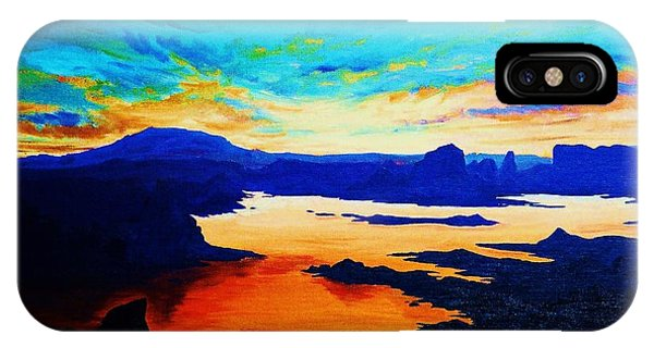 iPhone Case - Sunset On Lake Powell by Cynthia Sampson