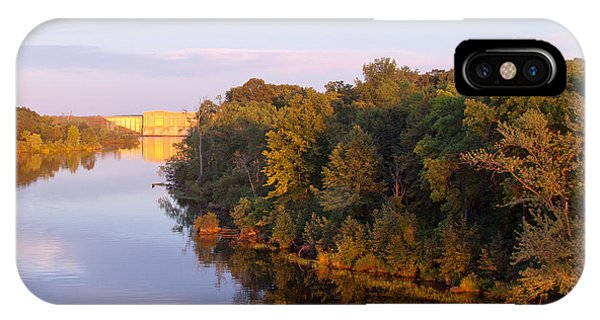 Sunset On Lake Wissota Dam IPhone Case
