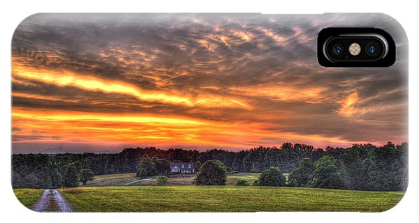 Take Me Home Sunset On Lick Skillet Road  IPhone Case