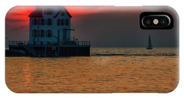Sunset On Lighthouse IPhone Case