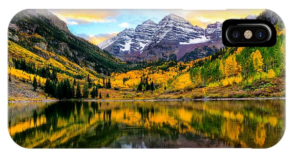 Sunset On Maroon Bells IPhone Case