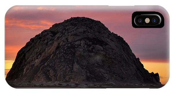 Sunset On Morro Rock IPhone Case