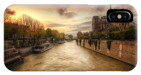Sunset On Notre Dame IPhone Case