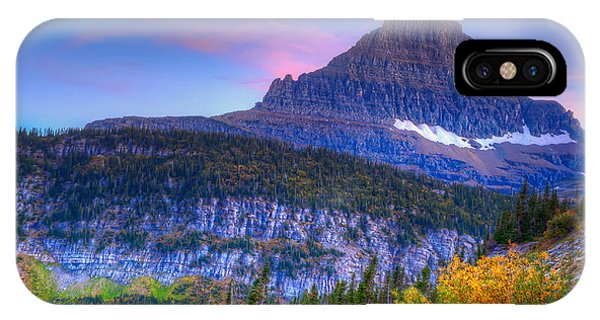 Sunset On Reynolds Mountain IPhone Case
