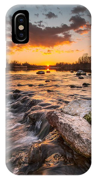 Sunset On River IPhone Case