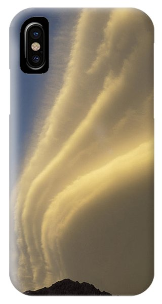 Sunset On Storm Clouds Near Mt Cook IPhone Case