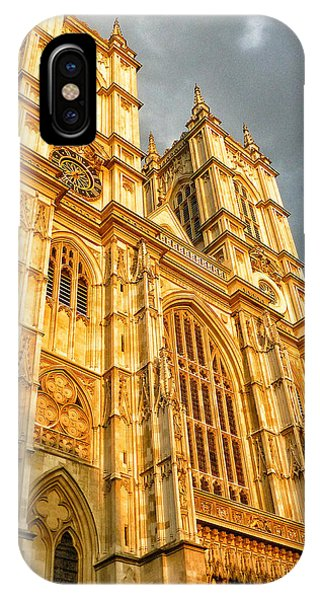 Westminster Abbey iPhone Case - Sunset On The Abbey  by Connie Handscomb