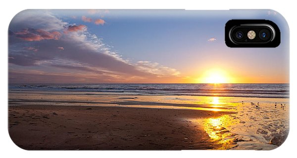 Sunset On The Beach At Carlsbad. IPhone Case