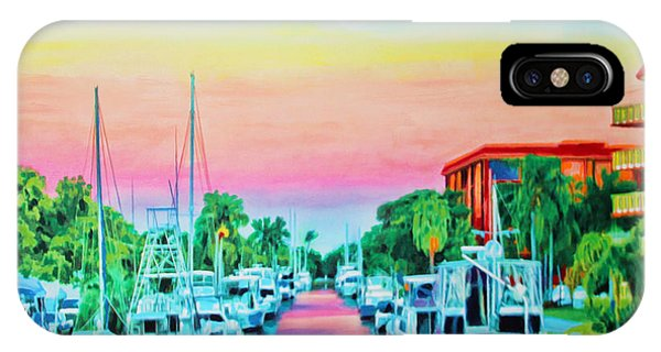 Sunset On The Canal IPhone Case