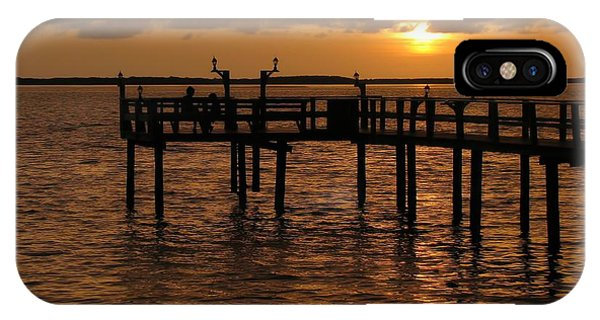 Sunset On The Dock IPhone Case