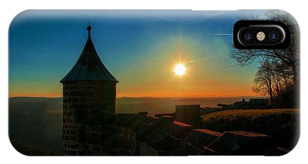 Sunset On The Fortress Koenigstein IPhone Case