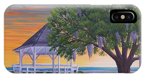 Sunset On The Gazeebo IPhone Case