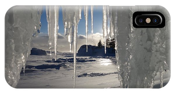 Sunset On The Icicles IPhone Case