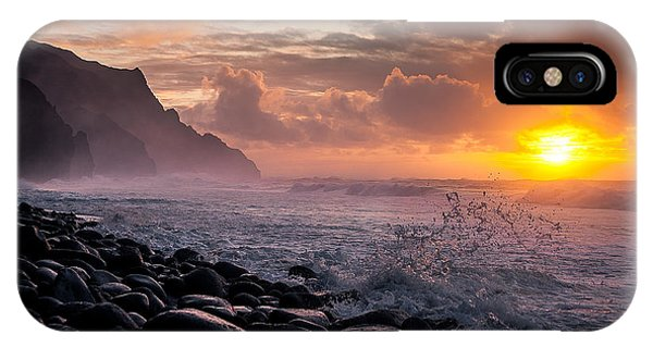 IPhone Case featuring the photograph Sunset On The Kalalau by Tim Newton