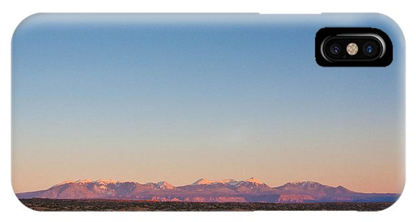 Sunset On The La Sal Mountains IPhone Case