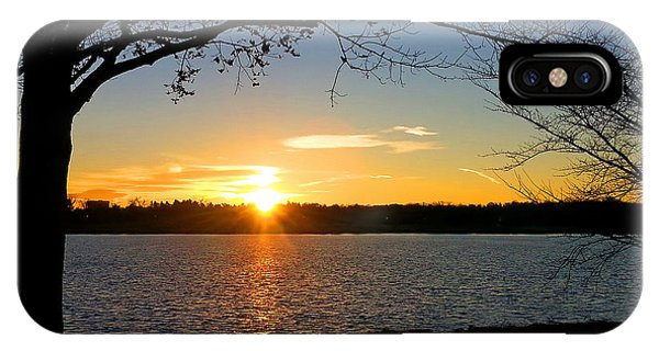 Sunset On The Potomac IPhone Case