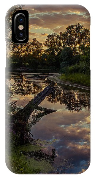 Sunset On The Quiet River IPhone Case
