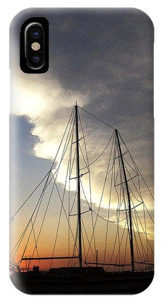 Sunset On The Turkish Gulet IPhone Case