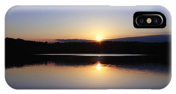 Sunset On Walden Pond IPhone Case