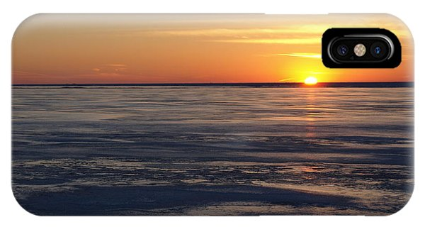 Sunset Over A Frozen Lake Erie - 2 IPhone Case