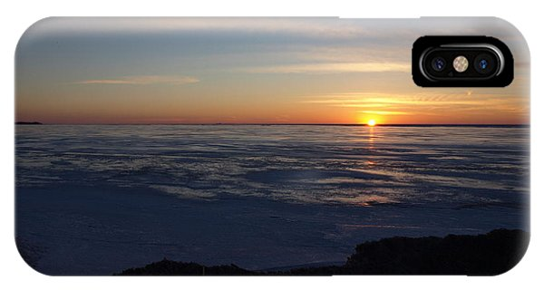 Sunset Over A Frozen Lake Erie - 4 IPhone Case