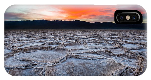 Sunset Over Badwater IPhone Case