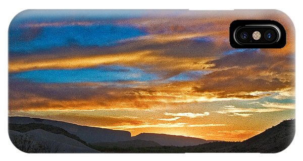 IPhone Case featuring the photograph Sunset Over Big Bend by Mae Wertz