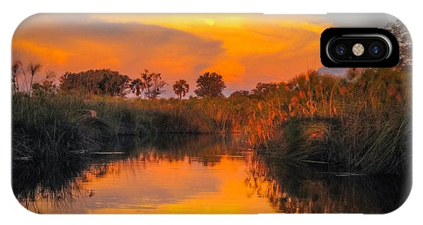 Sunset Over Camp Sandibe IPhone Case