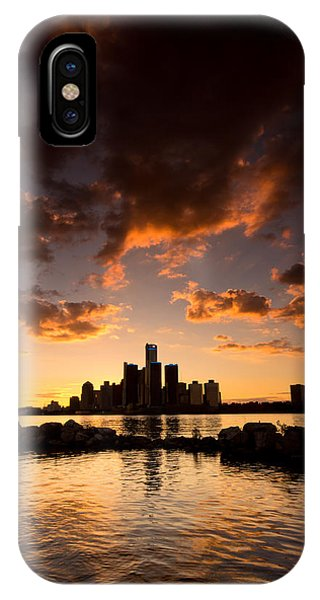 Sunset Over Detroit IPhone Case