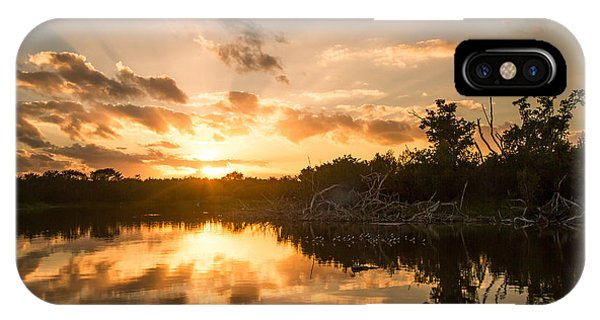 Sunset Over Eco Pond IPhone Case