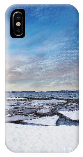 Sunset Over Frozen Lake IPhone Case