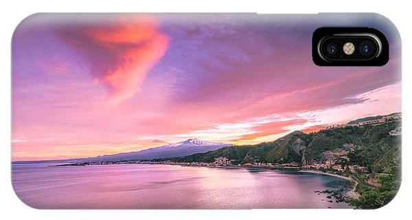 Sunset Over Giardini Naxos IPhone Case