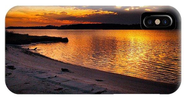 Sunset Over Little Assawoman Bay IPhone Case