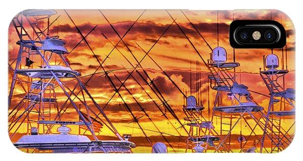 Sunset Over Marina IPhone Case