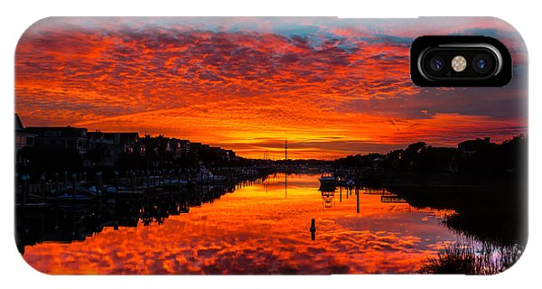 Sunset Over Morgan Creek - Wild Dunes Resort IPhone Case