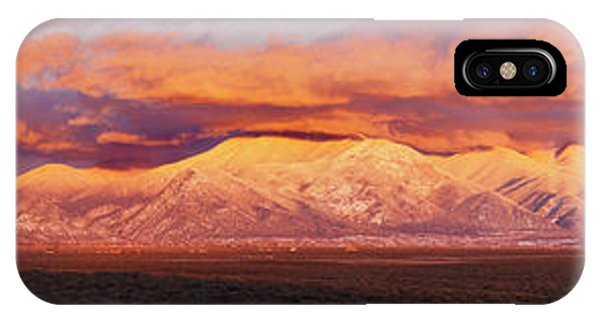 Sangre De Cristo iPhone Case - Sunset Over Mountain Range, Sangre De by Panoramic Images